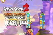 Angry Birds 2 Level 344 Cobalt Plateaus Fluttering Heights 3-Star Walkthrough