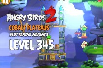 Angry Birds 2 Level 345 Cobalt Plateaus Fluttering Heights 3-Star Walkthrough
