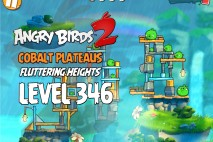 Angry Birds 2 Level 346 Cobalt Plateaus Fluttering Heights 3-Star Walkthrough