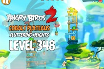 Angry Birds 2 Level 348 Cobalt Plateaus Fluttering Heights 3-Star Walkthrough