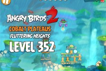 Angry Birds 2 Level 352 Cobalt Plateaus Fluttering Heights 3-Star Walkthrough