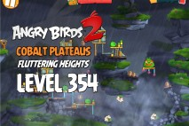 Angry Birds 2 Foreman Level 354 Boss Fight Walkthrough – Cobalt Plateaus Fluttering Heights