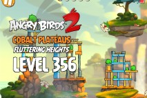 Angry Birds 2 Level 356 Cobalt Plateaus Fluttering Heights 3-Star Walkthrough