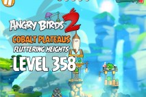 Angry Birds 2 Level 358 Cobalt Plateaus Fluttering Heights 3-Star Walkthrough