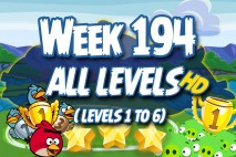 Angry Birds Friends 2016 Tournament Carnival Days Week 194 Non Power-Up Compilation Walkthrough