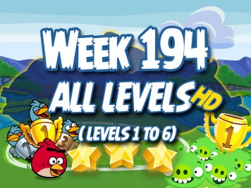Angry Birds Friends Tournament Week 190 Level 1 to 6