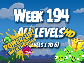 Angry Birds Friends Tournament Week 194 Levels 1 to 6 (Power Up) Compilation Walkthrough