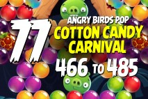 Angry Birds Pop Levels 466 to 485 Cotton Candy Carnival Walkthroughs