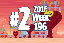 Angry Birds Friends 2016 Valentine's Tournament Level 2 Week 196 Walkthrough