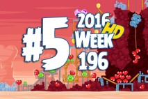Angry Birds Friends 2016 Valentine's Tournament Level 5 Week 196 Walkthrough