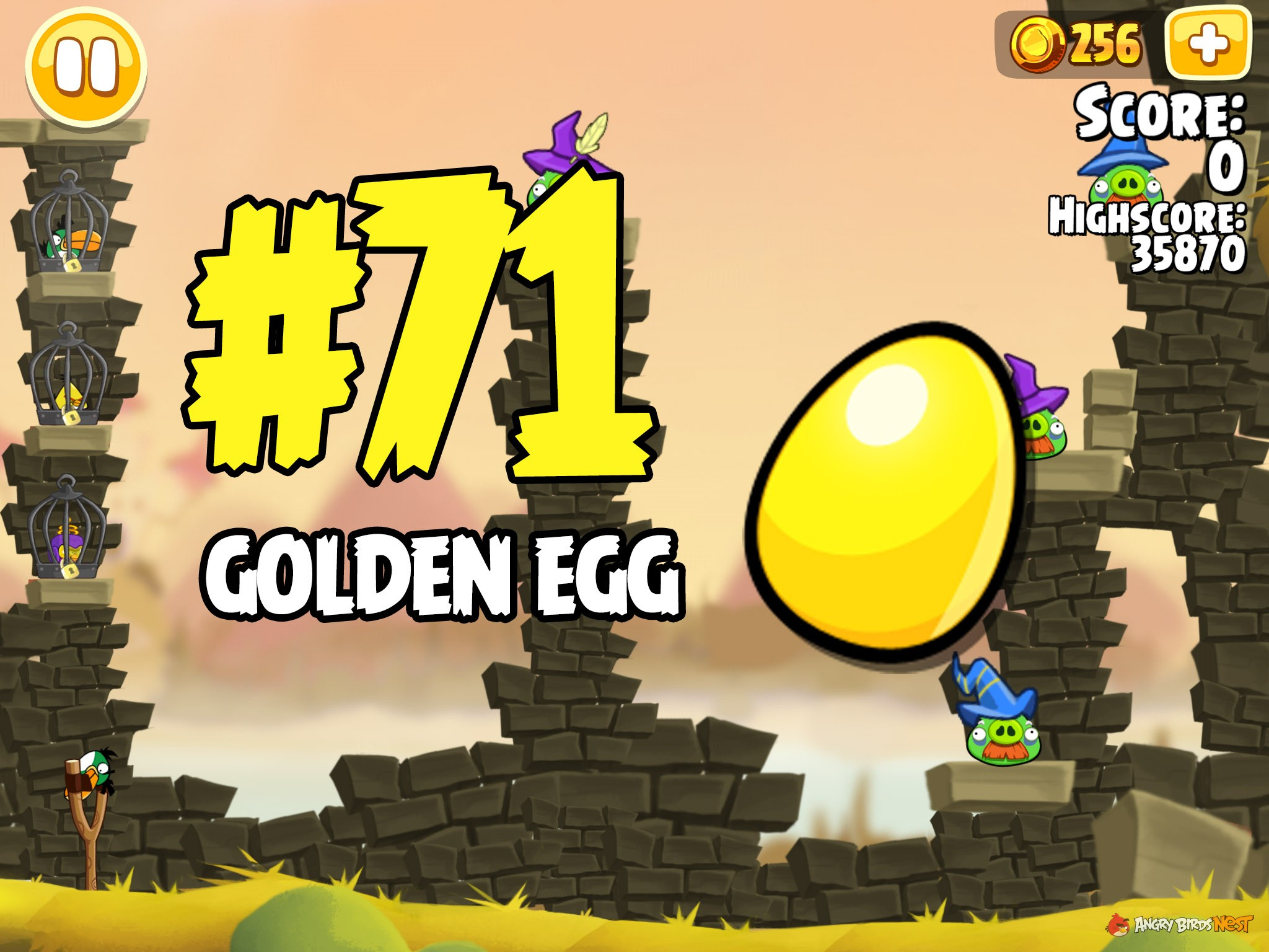 Angry Birds Seasons Fairy Hogmother Golden Egg #71 ...