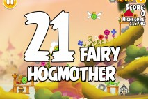 Angry Birds Seasons Fairy Hogmother Level 1-21 Walkthrough