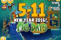Angry Birds Seasons The Pig Days Level 5-11 Walkthrough | New Year 2016!
