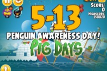 Angry Birds Seasons The Pig Days Level 5-13 Walkthrough | Penguin Awareness Day!