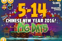 Angry Birds Seasons The Pig Days Level 5-14 Walkthrough | Chinese New Year 2016!