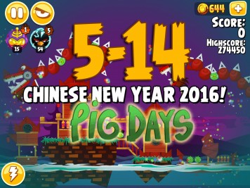 Angry Birds Seasons Pig Days Chapter 5 Level 5-14