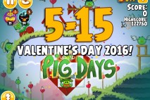 Angry Birds Seasons The Pig Days Level 5-15 Walkthrough | Valentine's Day 2016!