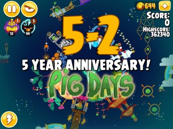 Angry Birds Seasons Pig Days Chapter 5 Level 5-2