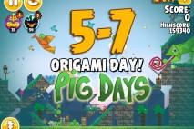 Angry Birds Seasons The Pig Days Level 5-7 Walkthrough | Origami Day!