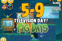 Angry Birds Seasons The Pig Days Level 5-9 Walkthrough | Television Day!