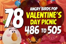 Angry Birds Pop Levels 486 to 505 Valentine's Day Picnic Walkthroughs