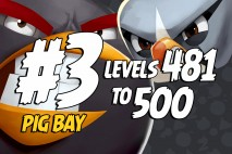 Angry Birds 2 Levels 481 to 500 Cobalt Plateaus – Pig Bay 3-Star Walkthrough