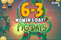 Angry Birds Seasons The Pig Days Level 6-3 Walkthrough | Women's Day!