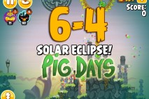 Angry Birds Seasons The Pig Days Level 6-4 Walkthrough | Solar Eclipse!