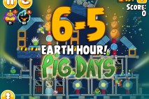 Angry Birds Seasons The Pig Days Level 6-5 Walkthrough | Earth Hour!