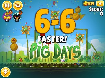 Angry Birds Seasons Pig Days Chapter 6 Level 6-6