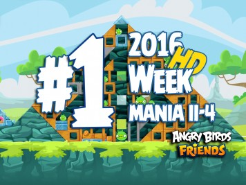 Angry Birds Friends Tournament Level 1 Week 204 Walkthrough | April 18th 2016