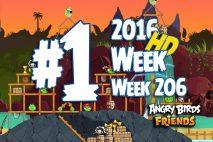 Angry Birds Friends 2016 Pirate Tournament Level 1 Week 206 Walkthrough