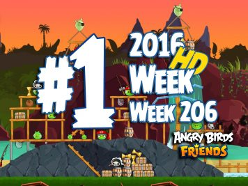 Angry Birds Friends Tournament Level 1 Week 206 Walkthrough | April 28th 2016