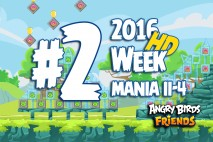 Angry Birds Friends 2016 Tournament Mania II-4 Level 2 Week 204 Walkthrough