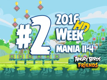 Angry Birds Friends Tournament Level 2 Week 204 Walkthrough | April 18th 2016