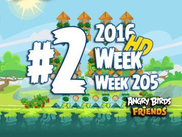 Angry Birds Friends Tournament Level 2 Week 205 Walkthrough | April 21th 2016