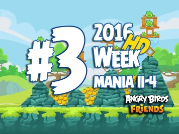 Angry Birds Friends Tournament Level 3 Week 204 Walkthrough | April 18th 2016