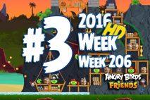 Angry Birds Friends 2016 Pirate Tournament Level 3 Week 206 Walkthrough