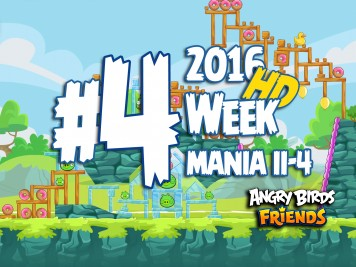 Angry Birds Friends Tournament Level 4 Week 204 Walkthrough | April 18th 2016