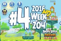 Angry Birds Friends 2016 Tournament Mania II-1 Level 4 Week 204 Walkthrough