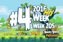 Angry Birds Friends 2016 Tournament Level 4 Week 205 Walkthrough