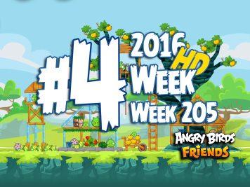Angry Birds Friends Tournament Level 4 Week 205 Walkthrough | April 21th 2016