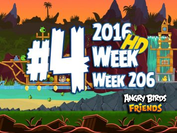 Angry Birds Friends Tournament Level 4 Week 206 Walkthrough | April 28th 2016
