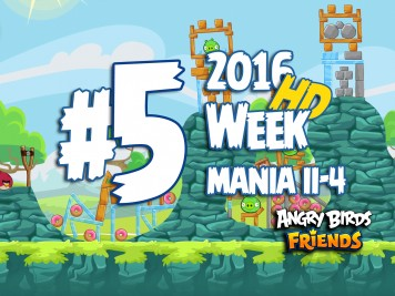 Angry Birds Friends Tournament Level 5 Week 204 Walkthrough | April 18th 2016