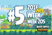 Angry Birds Friends 2016 Tournament Level 5 Week 205 Walkthrough