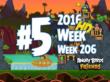 Angry Birds Friends Tournament Level 5 Week 206 Walkthrough | April 28th 2016