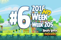 Angry Birds Friends 2016 Tournament Level 6 Week 205 Walkthrough