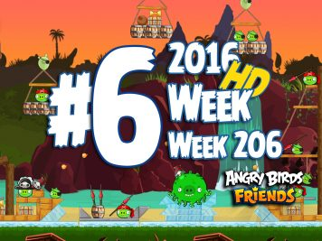 Angry Birds Friends Tournament Level 6 Week 206 Walkthrough | April 28th 2016