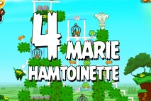 Angry Birds Seasons Marie Hamtoinette Level 1-4 Walkthrough