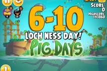 Angry Birds Seasons The Pig Days Level 6-10 Walkthrough | Loch Ness Day!